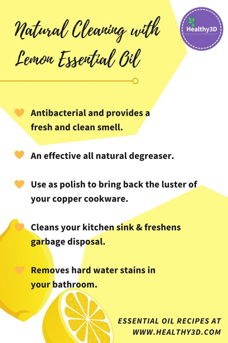 Why is lemon essential oil perfect for cleaning kitchen and bathroom