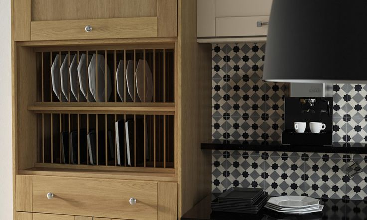 Open shelving is an ageless trend - keep your dishes organised and show off your favourite dinner set collection.
