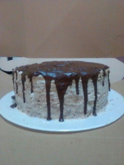 Torta cubierta chocolate