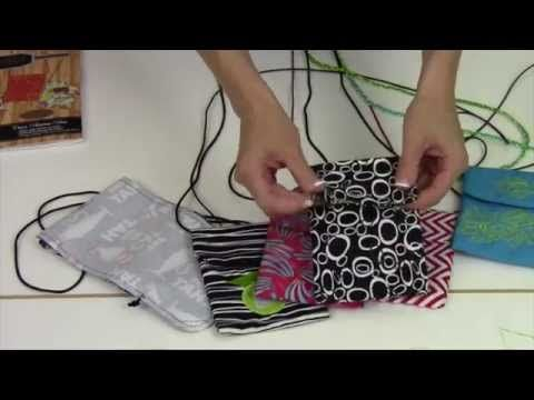 Cell Phone Bag by Quilt Smart - YouTube -- quick & easy to sew ... need pattern & kit  (fabric separate)
