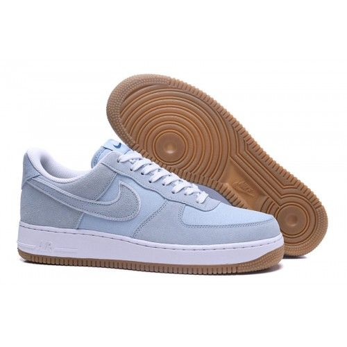 low priced c7b29 16d67 2018 NIKE AIR FORCE 1 07 Womens Mens Trainers Light Blue White Sale