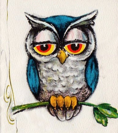 vintage Hallmark greeting card owl
