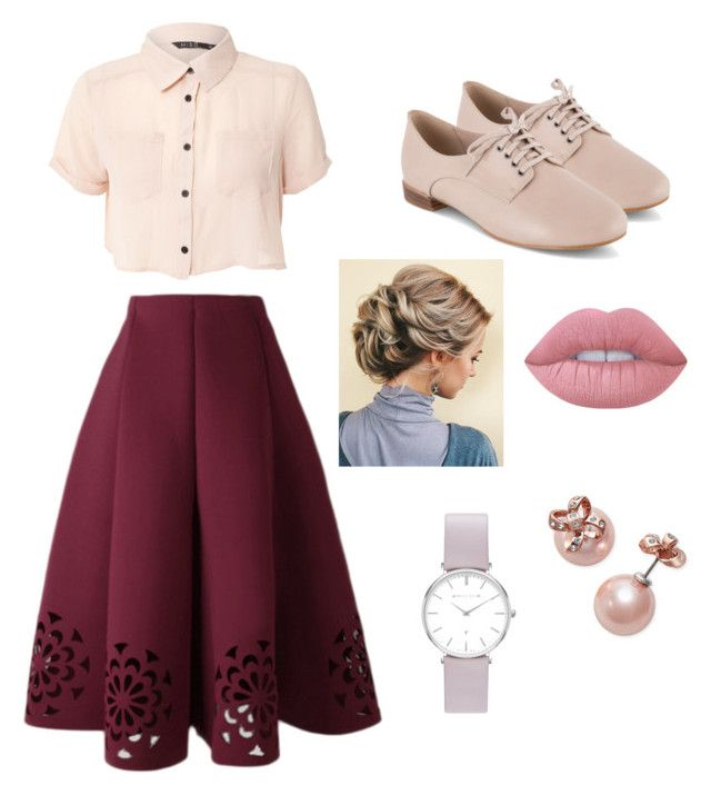 """""""Untitled #6"""" by kajakoralewski ❤ liked on Polyvore featuring Miso, Clarks, Lime Crime, Abbott Lyon and Kate Spade"""