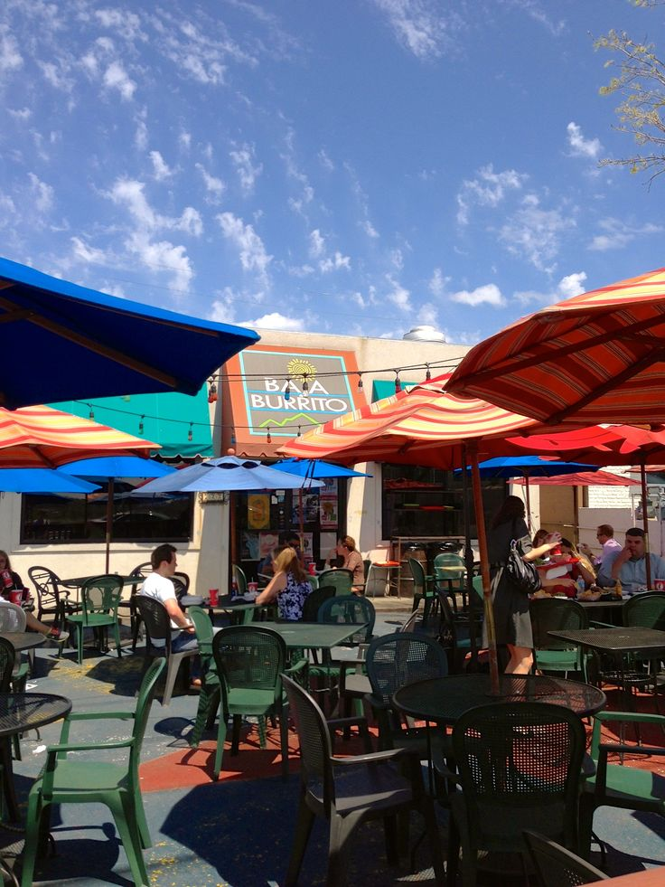 The Outdoor Patio At Baja Burrito In Berry Hill. #Nashville #MusicCity  #NashvillePatios