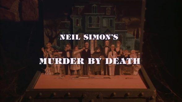 Cutthroat cutouts find themselves at the scene of a crime in Wayne Fitzgerald's opening titles for Murder by Death.