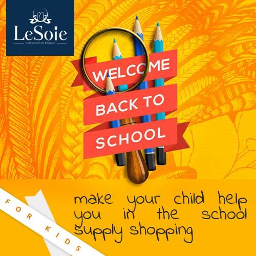 Did you get all your school supplies ready yet? If not, make your kid join you while shopping so he or she becomes more involved