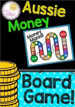Australian Money: Australian Money is a board game designed to teach early learners about coins and their values. As students roll a dice, they move their counters along the board. The first one to the finish wins. As they move around the board, students are required to identify Australian coins.