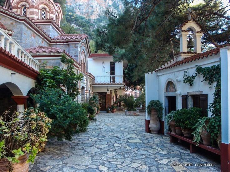 Agios Georgios    Selinaris    Monastery Heraklion Crete Greece