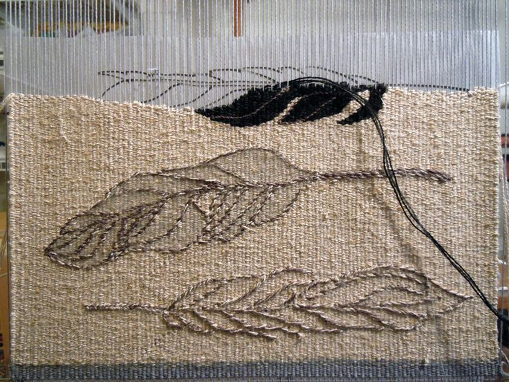 Today I've made a bit of a change in the path that the feather tapestry was taking, inspired by a flock of crows (oops, is that a murder of ...