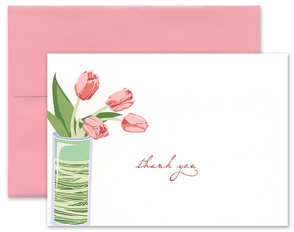 Bridal Shower Tip:  As you address each bridal shower invitation, take a moment to neatly write out the name and address of each guest on a matching thank you note envelope. At the shower, present the bride-to-be with the stack of pre-addressed envelopes and corresponding thank you notes. It's a thoughtful gift that will prove to be so helpful in those busy days of last-minute wedding preparation.