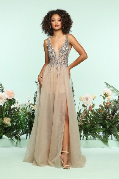 04ab87dbd27b This tulle gown by Zoey Grey 31120 is simply enchanting with the lightly  beaded bodice and the airy tulle skirt that makes it look as if you are  floating ...