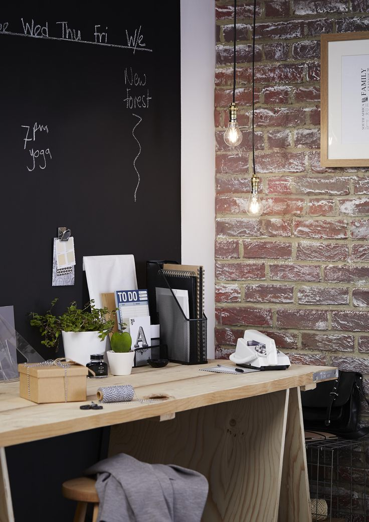 Blackboard paint is so versatile and is great on small patches in the kitchen…