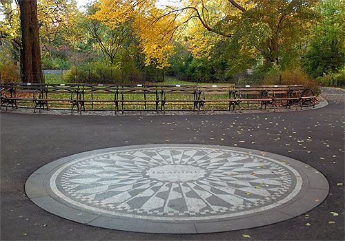 Strawberry Fields in Central Park, UWS