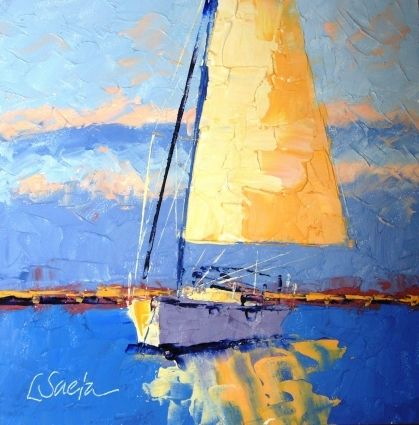 Sail Away, painting by artist Leslie Saeta