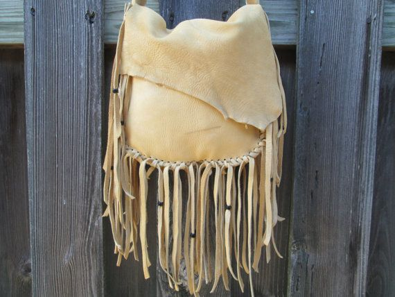 Buckskin Leather Purse Fringe Bag Handmade and for sale by ...