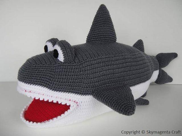 Whale Shark Amigurumi : Ravelry: Crochet Pattern - SHARK pattern by Sky Magenta ...