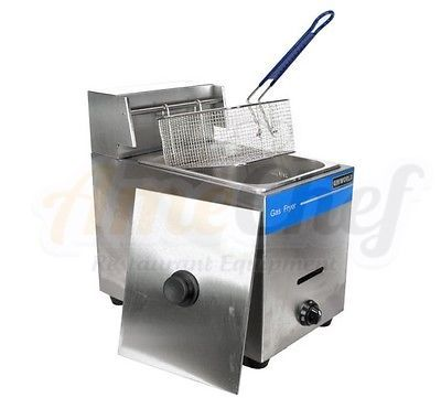 New Commercial Countertop Gas Fryer, 1 Basket, Uniworld UGF-71 Propane (LPG) #Business #Industrial #Restaurant #Catering #UGF-71