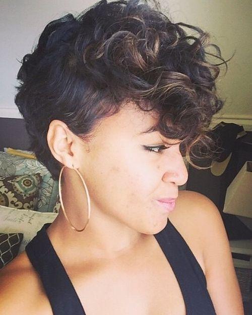 feminine curly mohawk