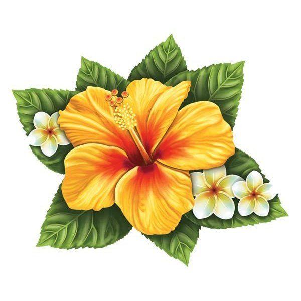 Single Hibiscus Flower Flower Drawing Hawaiian Flower Tattoos