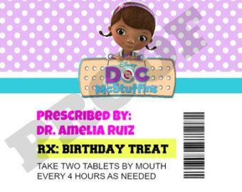 Doc McStuffins Prescription Bottle Labels by CreativeKidShop