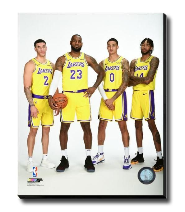 a3d8048b28b3a 2018 Los Angeles Lakers Fab Four LeBron James Team NBA Licensed ...