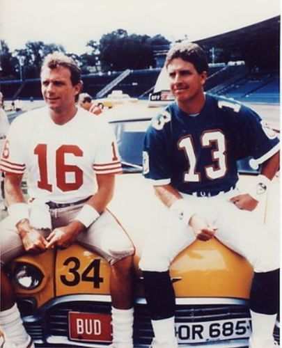 My favorite picture of Montana and Marino. Wish I could of found a better quality version though.