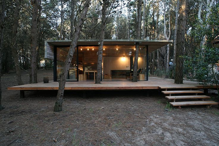 BAK arquitectos builds the casa mar azul in a dense forest (near buenos aires, argentina)