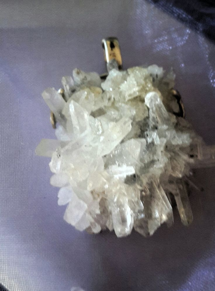 quartz pendant (Raw) Handmade set in sterling silver