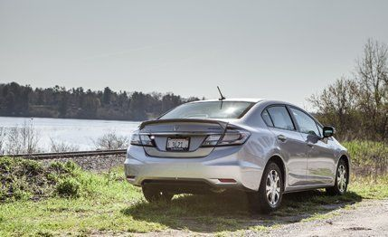 2013 Honda Civic Hybrid Updated more quickly than it can reach highway speeds.