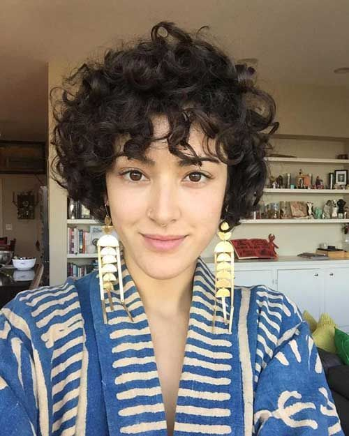 8ort Curly Hairstyle Frauen Frisur Pinterest Curly Hair