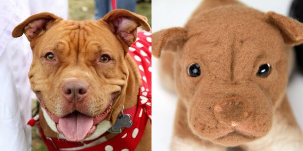 Send them a pic of your pup and they make a stuffed copy. This is super cool.
