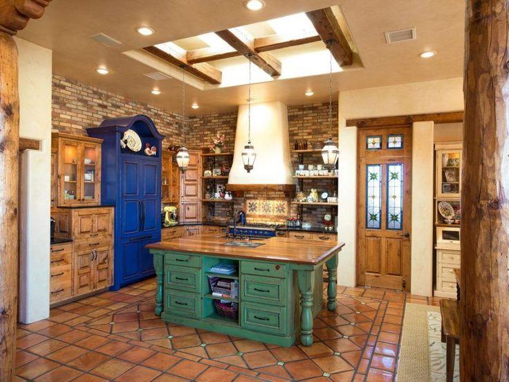 Image result for southwest style kitchen pot racks