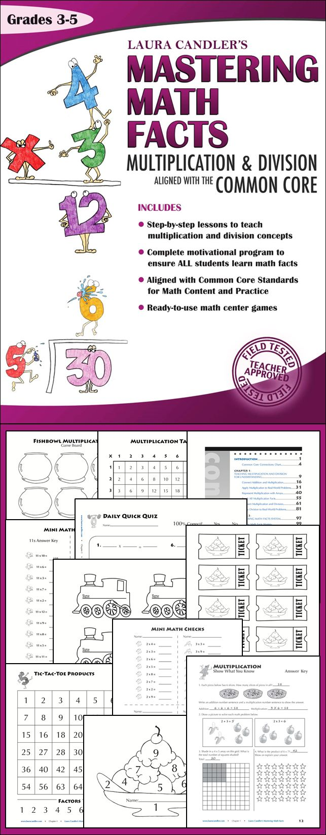 Mastering Math Facts Multiplication and Division: Aligned with the Common  Core - Laura Candler's best