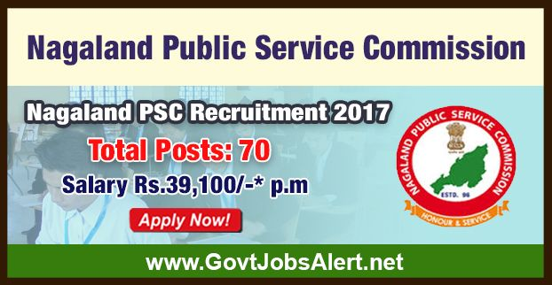 Nagaland PSC Recruitment 2017 - Hiring 70 Post Extra Assistant Commissioner and Other Posts, Salary Rs.39,100/- : Apply Now !!!  The Nagaland Public Service Commission – Nagaland PSC Recruitment 2017 has released an official employment notification inviting interested and eligible candidates to apply for the positions of Extra Assistant Commissioner, Deputy Superintendent of Police, Block Development Officer, Secretariat Assistant, Assistant Jailor, Labor Inspector, Techn