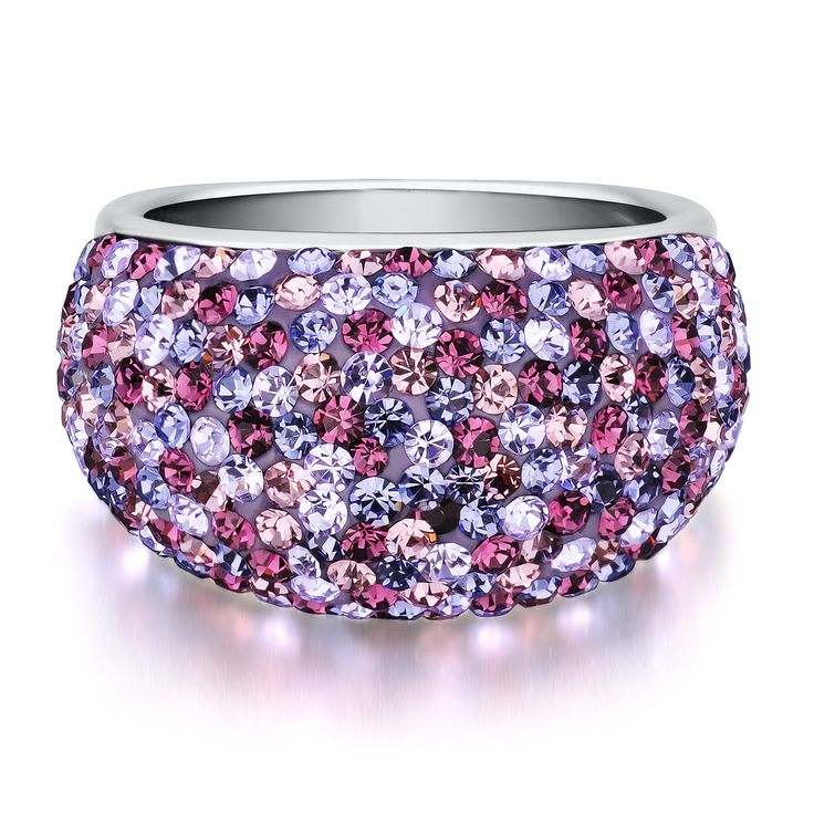 Purple Crystal Dome Ring in Sterling Silver by @Helzberg Diamonds #helzberg #jewelry #aislestyle Enter the Aisle Style Sweeps for a chance to win up to $3,000 in gift certificates from David's Bridal & Helzberg Diamonds! Enter now thru 9/2: sweeps.piqora.com... Rules: sweeps.piqora.com...