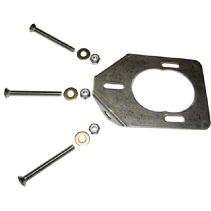 Lees Stainless Steel Backing Plate f/Heavy Rod Holders