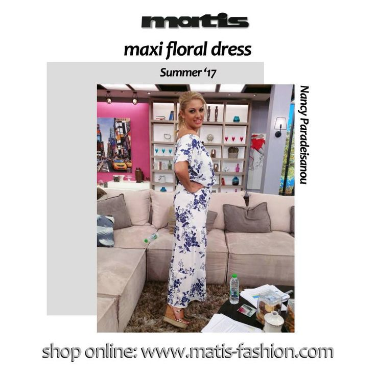 Nancy Paradeisanou is totally in a floral mood!