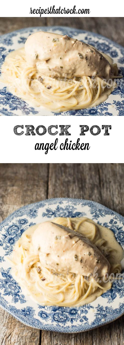 Crockpot Angel Chicken - Our absolute favorite slow cooker chicken recipe. The sauce is fantastic!