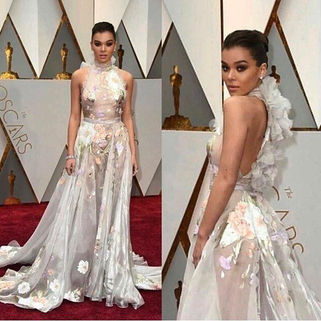 Um dos meus preferidos do RED CARPET no Oscar 2017! Lindo, delicado, e fresh! Adorei!