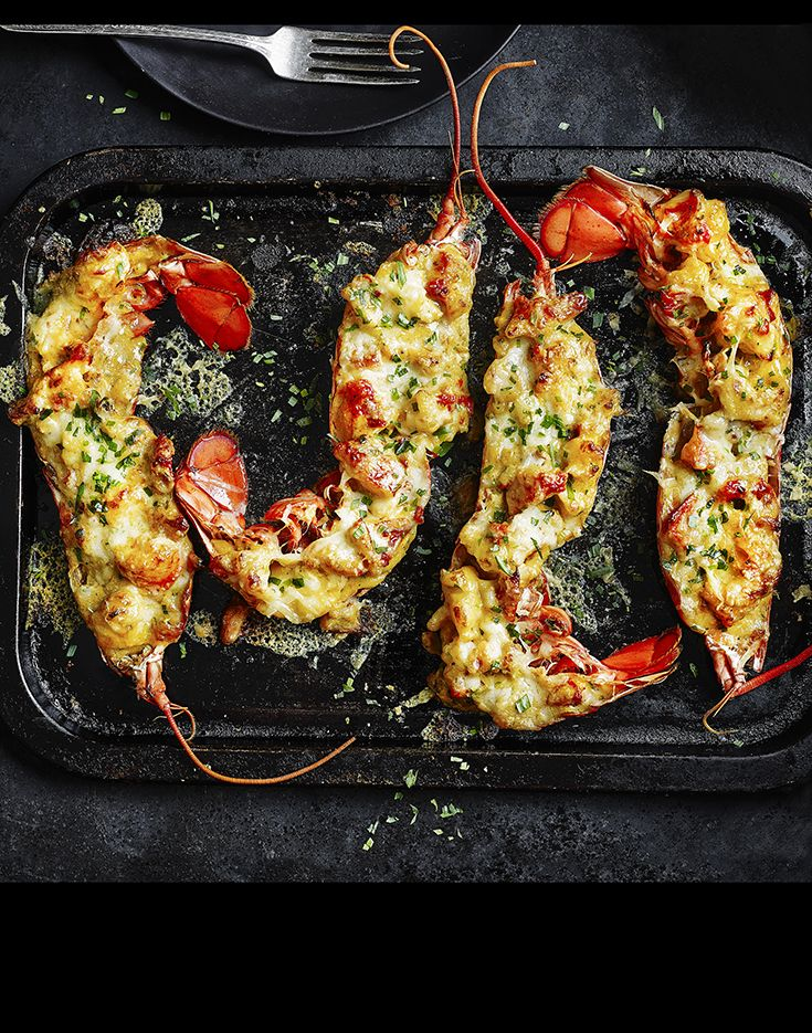 Impress your loved one with our deliciously indulgent recipe for Lobster Thermidor served with a bubbling cheese topping.