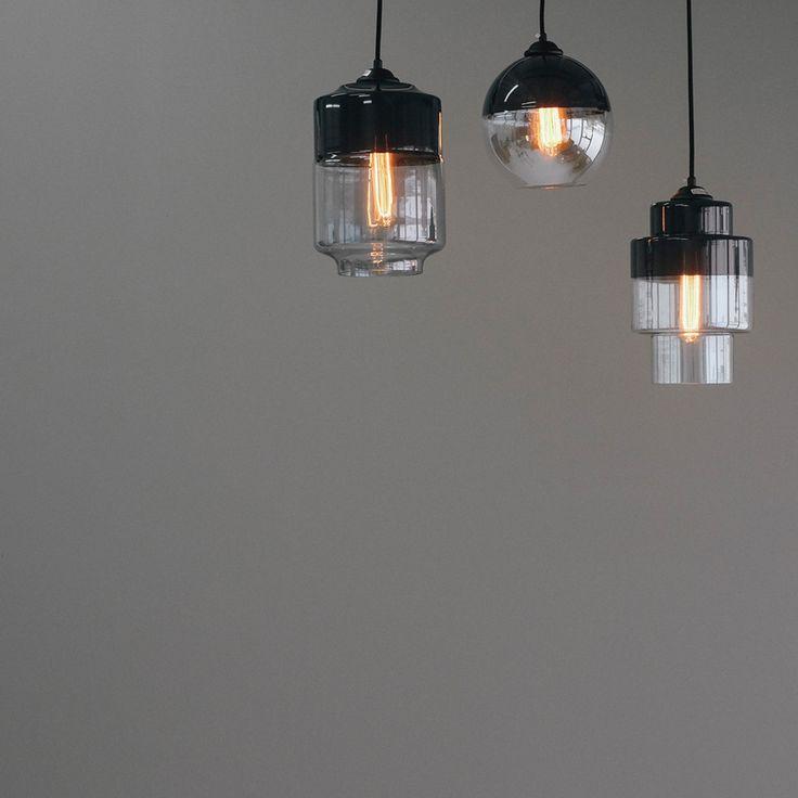 Two Tone Glass Pendant Lights- DARK NAVY