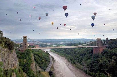 Bristol Balloons. I always forget just how massive Bristol gorge is with the river below and Brunel's incredible bridge spanning the abyss. Just stunning!