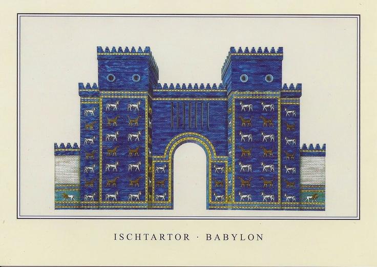 ISCHTAR GATE-BABYLON.    Attempted reconstruction of Jens Jähnig.