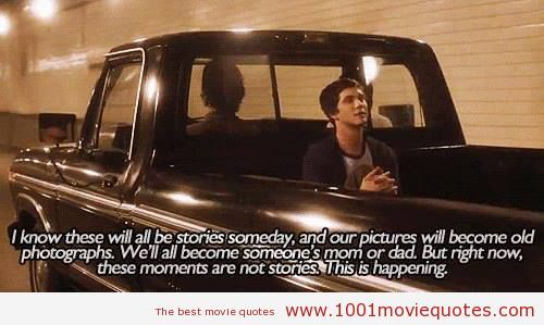 The Perks of Being a Wallflower (2012) - movie quote