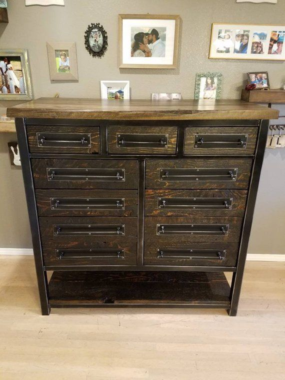 Named After Our Son Lvsd This Stunning 11 Drawer Dresser Is The Newest Piece T Muebles Industriales Clasicos Muebles De Diseno Industrial Muebles Industriales
