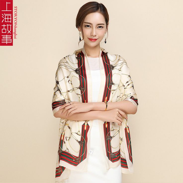 175*70 Print Flower Silk Long Scarf for Women Hijab Winter Warm Scarf Luxury Brand Female 2016 Pashmina Tube Scarf Shawls