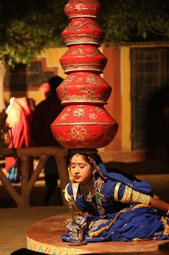 Folk Dance with pots, Jaipur