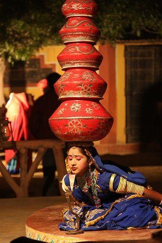 Folk Dance with pots, Jaipur
