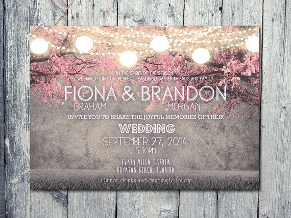 Set of 100 - Cheerful Night Blush Pink Festive Lights Wedding Invitation and Reply Card Set - Wedding Stationery - ID402 102,13
