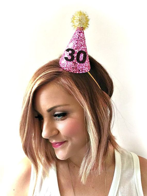 Everyone needs a party hat on their birthday! listing at https://www.etsy.com/listing/222801301/30th-birthday-glitter-party-hat-first